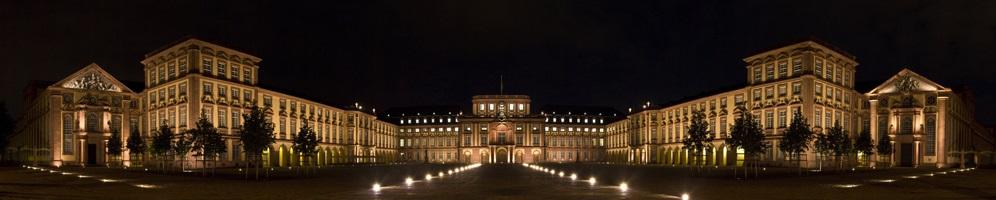 Panorama des Mannheimer Schlosses und Catering Mannheim